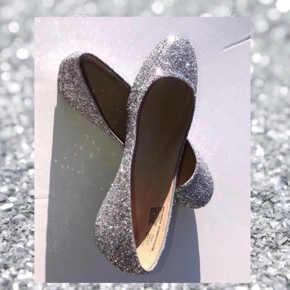 7cb82a0ad481 JCo.Danseur Shoes Shoes | Womens Custom Silver Glittered Ballet ...